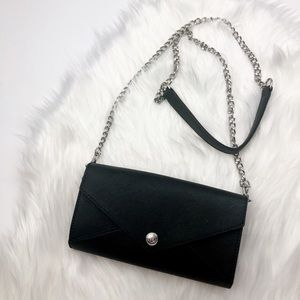 New Rebecca Minkoff Black Wallet On A Chain